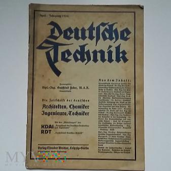 Magazyn Deutsche Technik April 1934