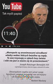 YouTube - Tak myśli papież