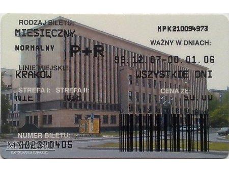 Bilet MPK Kraków 22