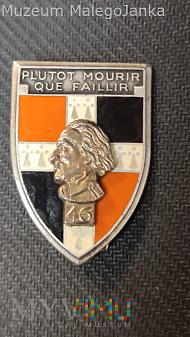 Pamiątkowa odznaka 46 Pułku Piechoty - Francja