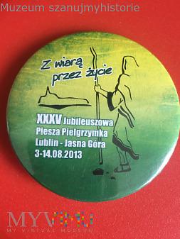 Przypinka XXXV PP Lublin- Jasna Góra 2013