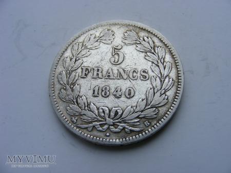 5 FRANKÓW - 1840 B