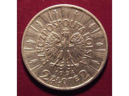 2 złote z Józefem Piłsudskim