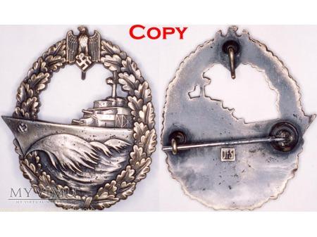 Odznaka dla Załóg Niszczycieli, Destroyer Badge