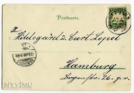 1900 Krasnale i Zielone Świątki chromolitografia