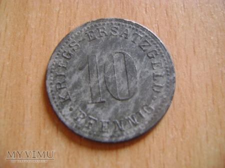 Kriegs Ersatz Geld 10 pfennig