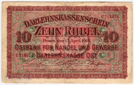 17.04.1916 - 10 Rubli - Poznań