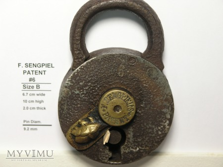 "F. Sengpiel Patent Padlock #6 - Size ""B"""