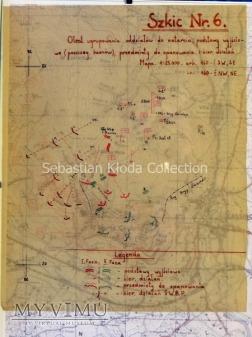 Szkic Nr.6 Ugrupowanie oddziałów do natarcia