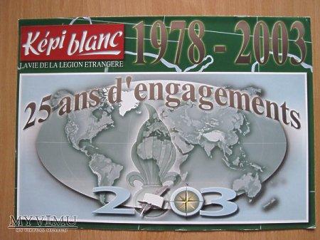 Kepi Blanc kalendarz 2003