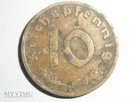 10 pfennig 1938 J