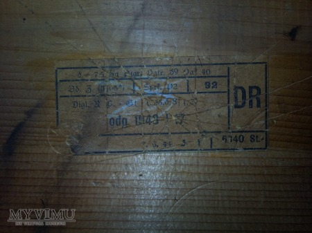Skrzynia na amunicję 7,5cm Pak 40 1943 rok