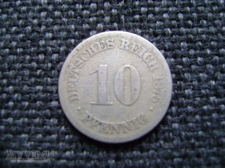 10 pfennigów 1875
