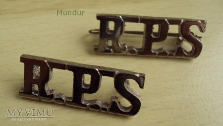 Indyjskie odznaki na naramienniki: R.P.S