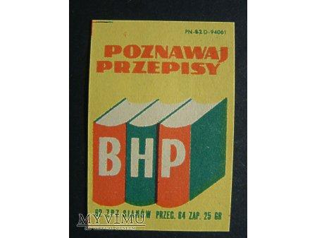 Etykieta - Poznawaj przepisy BHP