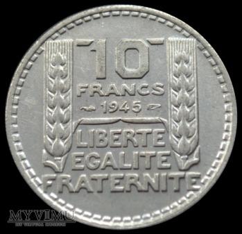 10 Francs 1945