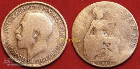 Wielka Brytania, half penny 1911