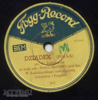 Polka Dziadek na Fogg Record
