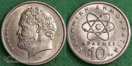 Grecja, 10 Drachm 1984