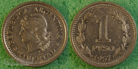 Argentyna, 1 peso 1957