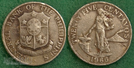 Filipiny, 25 CENTAVOS 1966