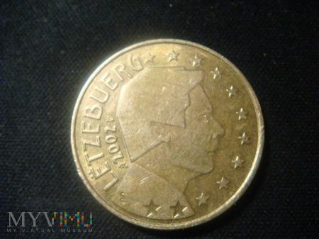 Luxembourg 50 centów 2002