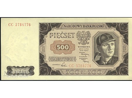 500 zł 1948 r.