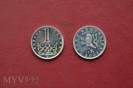 Moneta czeska: 1 koruna česká