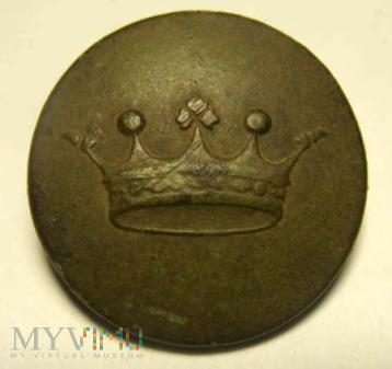 Guzik liberyjny - korona 5 pałek - szlachta
