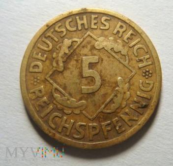 5 Reichspfennig 1926 A, Republika Weimarska
