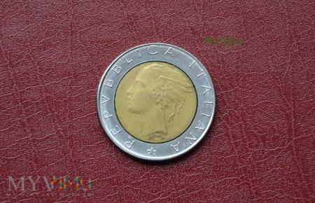 Moneta włoska: 500 lire