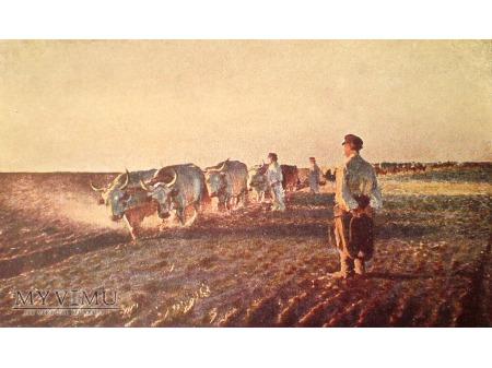 Leon Wyczółkowski ORKA Praca na polu pocztówka