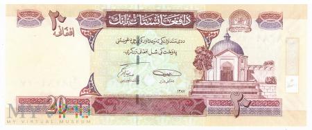 Afganistan - 20 afgani (2008)