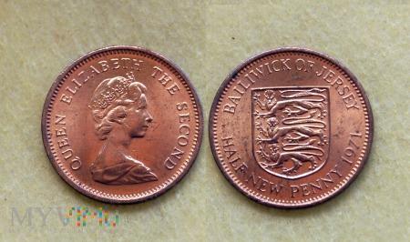 Jersey, helf new penny 1971
