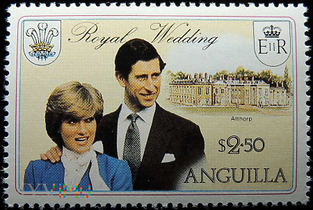Anguilla 2,50$ Księżna Diana i Książę Karol