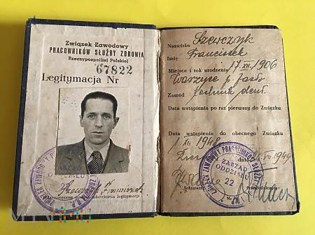 Duże zdjęcie Legitymacja Zw.Zaw.Prac.Służ.Zdrowia z 1948r.