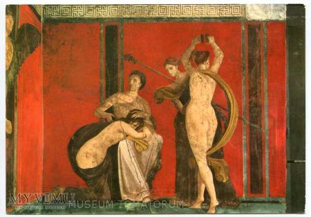 Pompeje - freski - Nagie Flagellee i Bacchante