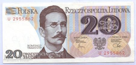 20 złotych - 1982.