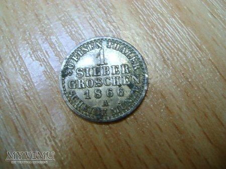 1 silber groschen 1866