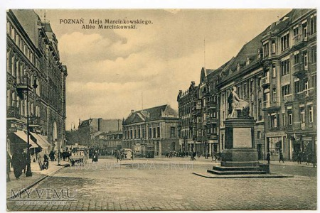 Poznań lata 20-te - Aleja Marcinkowskiego