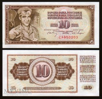 Yugoslavia - P 82 - 10 Dinars - 1968