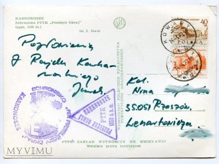 Karkonosze - schr. Przełęcz Okraj - 1973