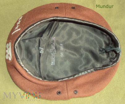 Brązowy beret obrony terytorialnej - porucznik