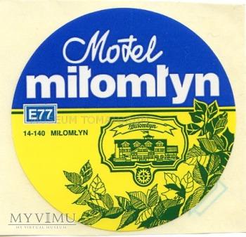 Nalepka hotelowa - Miłomłyn - Motel