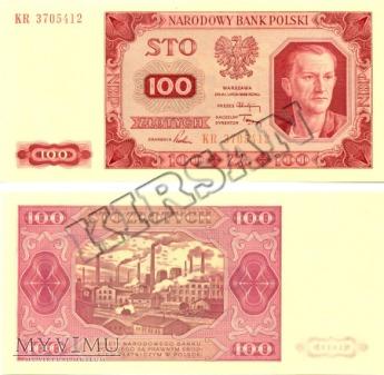 Polski banknot 100 zlotych 1948 r