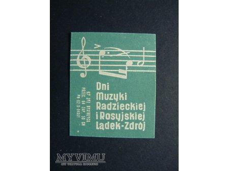 Etykieta - Dni Muzyki Radzieckiej i Rosyjskiej