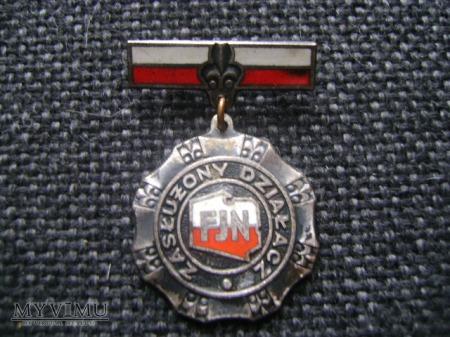 odznaka Zasłużony działacz FJN