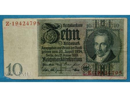 10 Reichsmark 1924