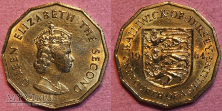 Jersey, 1/4 Shilling 1964