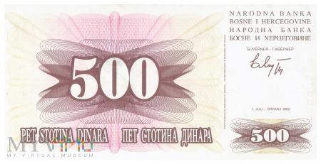 Bośnia i Hercegowina - 500 dinarów (1992)
